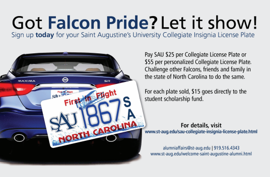 SAU License Plate Promo