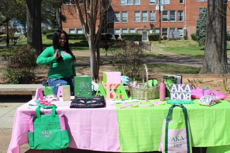 Alpha Kappa Alpha table at Club Fest