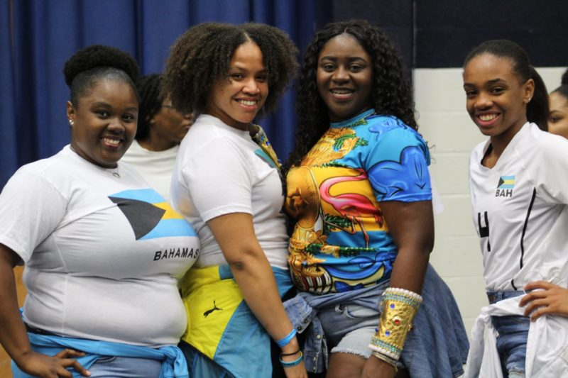 Students from the Bahamas