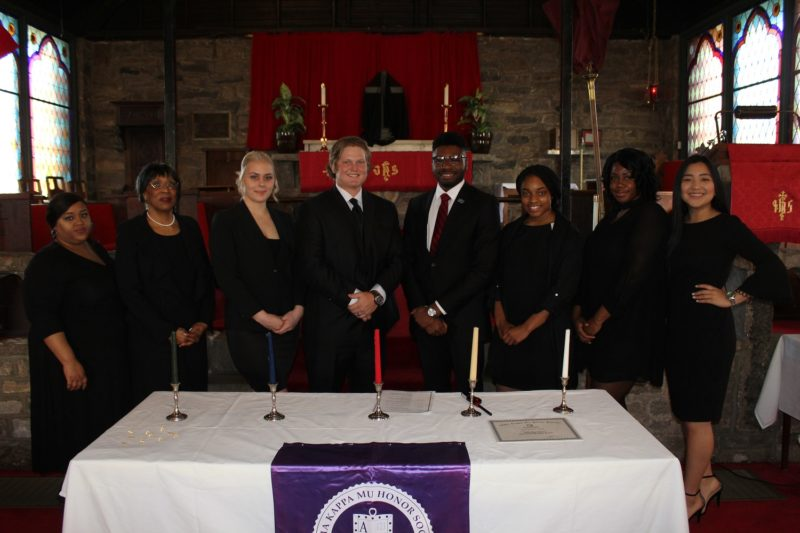 Alpha Kappa Mu Induction Ceremony