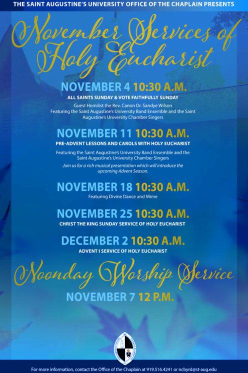 November Chapel Service Flyer