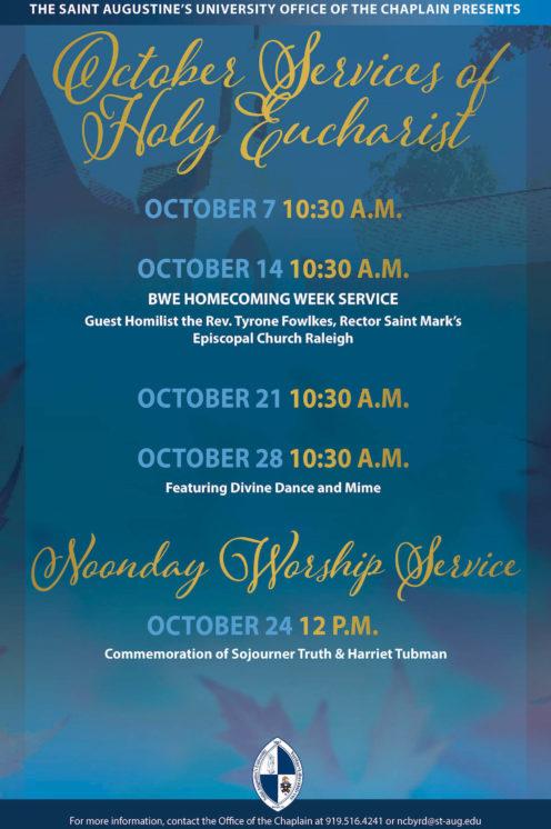 October Chapel Service Flyer