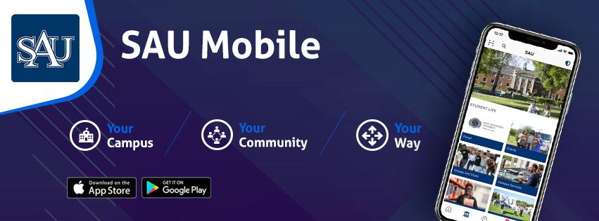 SAU mobile app banner