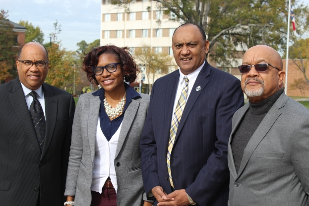 Pictured from left to right: Dr. Everett Ward, Prof. April McCoy, Dr. Gaddis Faulcon, and Mr. Birchie Warren