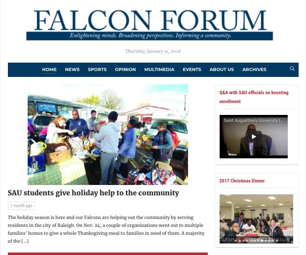 The Falcon Forum, SAU's student-run newspaper, launches new